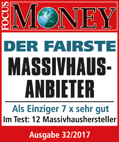 Focus Money Studie - Fairster Massivhausanbieter